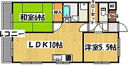 兵庫県神戸市垂水区西脇2丁目の賃貸マンションの間取り