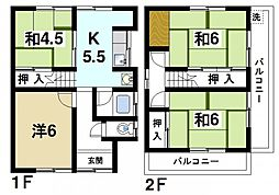 [一戸建] 奈良県奈良市恋の窪1丁目 の賃貸【/】の間取り