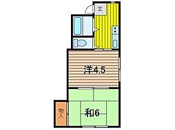 千成マンション[3階]の間取り