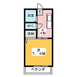 フロンティア神沢C棟[2階]の間取り