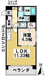 愛知県名古屋市昭和区戸田町5丁目の賃貸マンションの間取り