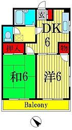 東京都葛飾区東堀切3丁目の賃貸マンションの間取り