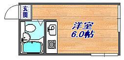 深江本町マンション(旧ラセゾンあかつき)[404号室]の間取り