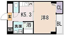 アンソレイユ菱屋西[2階]の間取り
