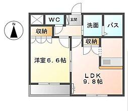 III・ルミエール[1階]の間取り