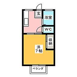東野ハイツB[2階]の間取り