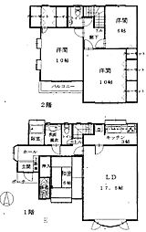 [テラスハウス] 埼玉県さいたま市中央区本町東4丁目 の賃貸【/】の間取り