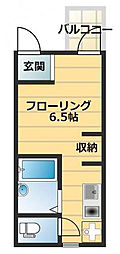 神奈川県横浜市中区根岸町3丁目の賃貸アパートの間取り