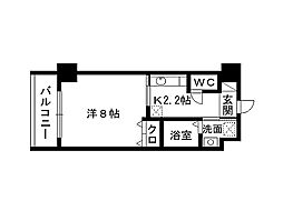 福岡県北九州市小倉北区神岳1丁目の賃貸マンションの間取り
