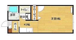 ルミエール東津田[106号室]の間取り