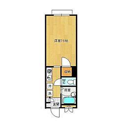 メゾンツムラ[1階]の間取り