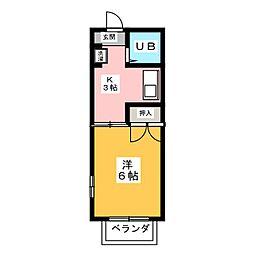 シャンポール紫野[2階]の間取り