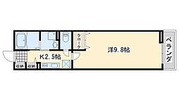 南海線 羽倉崎駅 徒歩13分の賃貸アパート 1階1Kの間取り
