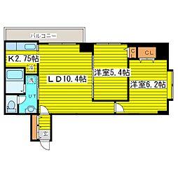 北海道札幌市東区北十七条東7丁目の賃貸マンションの間取り