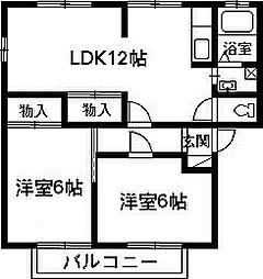 ミニヨン尾瀬[202号室]の間取り
