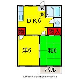 グリーンフォーブル1[2階]の間取り