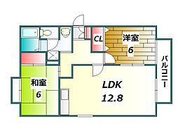 トゥインクル華[2階]の間取り