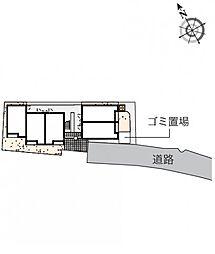 クレイノメトロノーム坂下[2階]の間取り