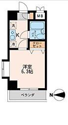 東京都品川区豊町6丁目の賃貸マンションの間取り
