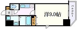 名古屋市営名城線 上前津駅 徒歩8分の賃貸マンション 8階1Kの間取り