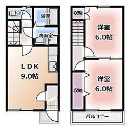 [テラスハウス] 愛知県清須市土田 の賃貸【愛知県 / 清須市】の間取り