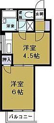 ハイネス岡崎2[5階]の間取り