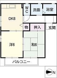 YAMA CHO II号館[1階]の間取り