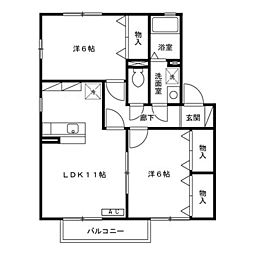 ウィルモア新宅[2階]の間取り