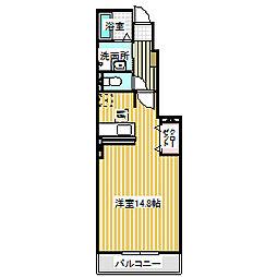 愛知県名古屋市中川区上流町2丁目の賃貸アパートの間取り