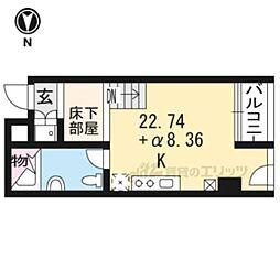 是空HORIKAWA 7階1LDKの間取り