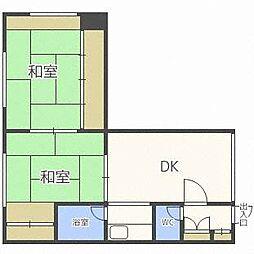 コーポL[2階]の間取り