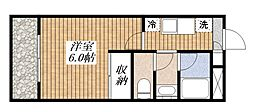 東京都昭島市中神町の賃貸マンションの間取り