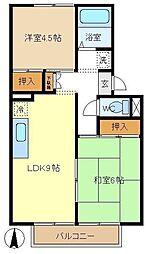 長野ハイツB[1階]の間取り