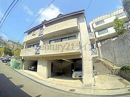 兵庫県宝塚市花屋敷つつじガ丘の賃貸アパートの外観
