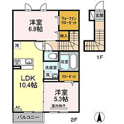 仮)D-room上鷺宮1丁目[2階]の間取り