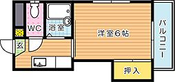 PLEAST熊西(プレスト熊西)[3階]の間取り