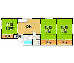 兵庫県伊丹市中央3丁目の賃貸マンションの間取り