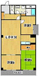 モリサンビル[4階]の間取り