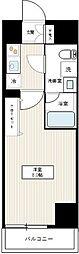 東京メトロ日比谷線 北千住駅 徒歩17分の賃貸マンション 2階1Kの間取り