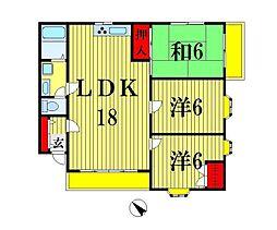 プレステージ1[2階]の間取り