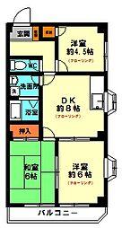 ジュネス(3F・角部屋)[3階]の間取り