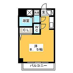 イースト天神・STUDIO[6階]の間取り