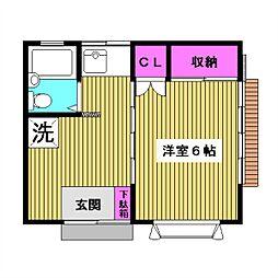東京都板橋区西台1丁目の賃貸アパートの間取り