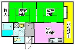 ふぁみーゆ足代北 705号室[7階]の間取り