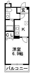 神奈川県藤沢市高倉の賃貸マンションの間取り