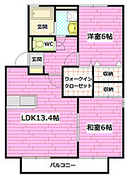 ルミエール B棟[2階]の間取り