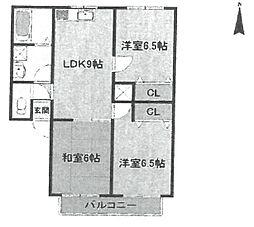 レトア武庫之荘[A-202号室]の間取り
