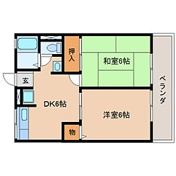 静岡県藤枝市青木の賃貸アパートの間取り