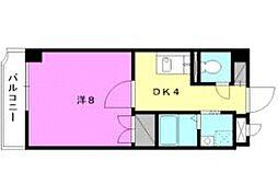 カサグランテ湯之町[1-B 号室号室]の間取り