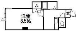 コスモス菊水[2階]の間取り